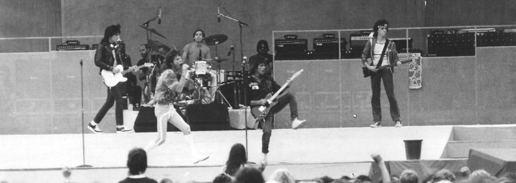 Die Rolling Stones während der Arbeit: 1982 in Köln.